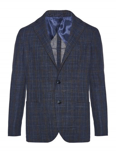 BARBA NAPOLI WOOL/SILK/LINEN JACKET