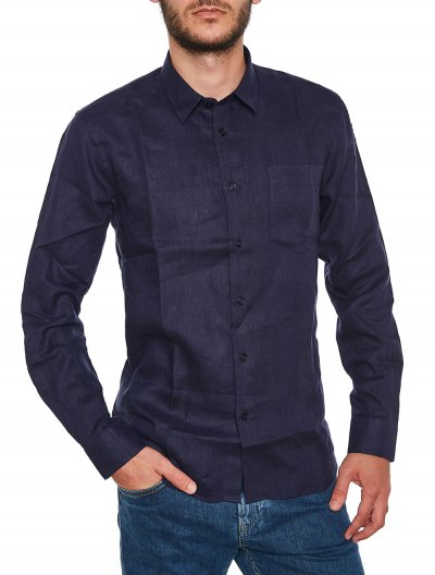 VILEBREQUIN LINEN SHIRT WITH POCKET