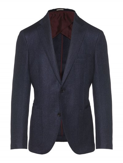 LUCIANO BARBERA WOOL/SILK/LINEN JACKET