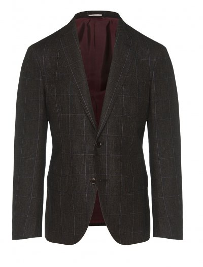 LUCIANO BARBERA WOOL/SILK/LINEN SUIT