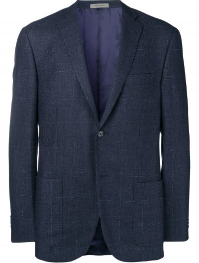 CORNELIANI WOOL/CASHMERE CHECKED JACKET