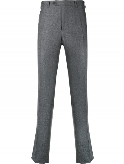 CANALI SUPER 120 FLANNEL MELANGE PANTS