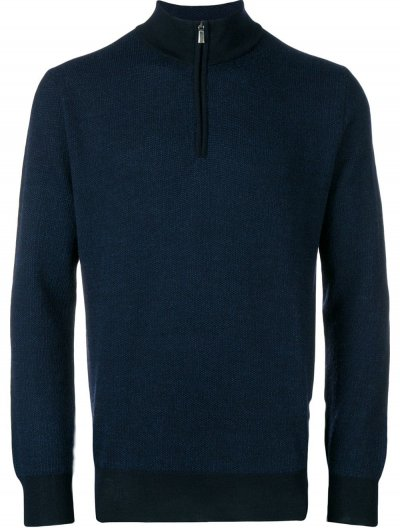 CANALI ZIPPED SWEATER