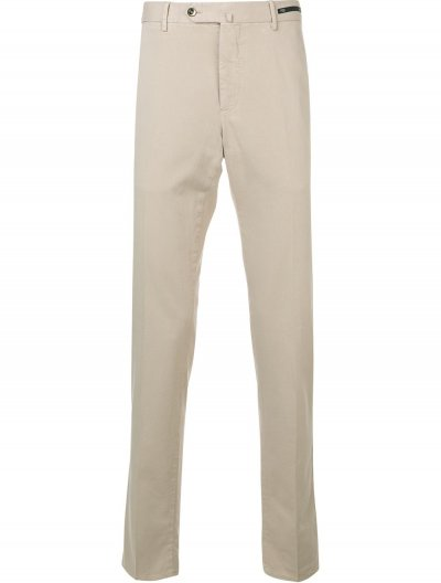 PT01 SLIM BUSINESS COTTON/CASHMERE PANTS