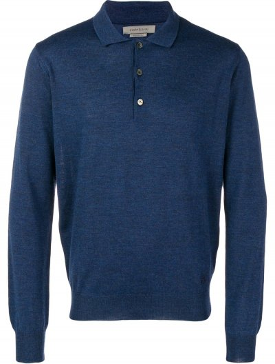CORNELIANI WOOL POLO SHIRT