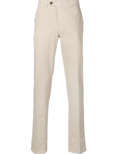 CANALI COTTON/SILK TROUSERS