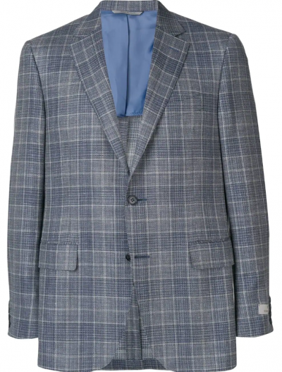 CANALI WOOL/SILK/LINEN CHECKED JACKET