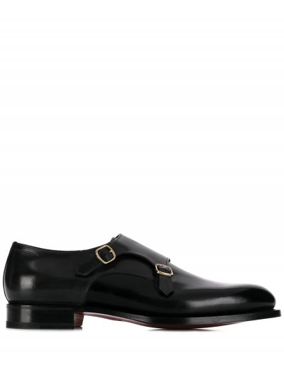 SANTONI DOUBLE-BUCKLE SHOES