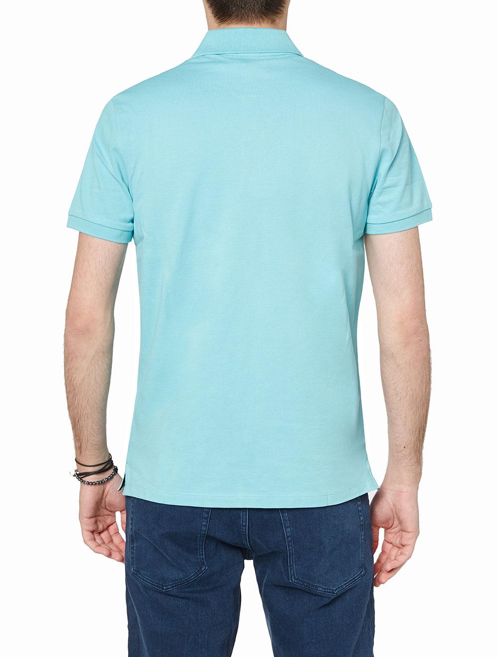 c17be19cd393 Boss Γαλάζια  Pallas  Polo Μπλούζα
