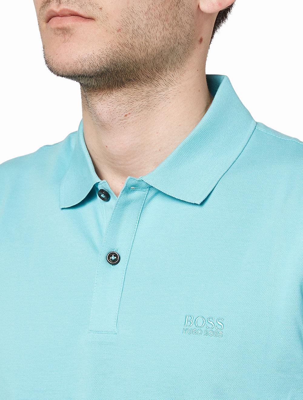 1229e894a18c Boss Γαλάζια  Pallas  Polo Μπλούζα