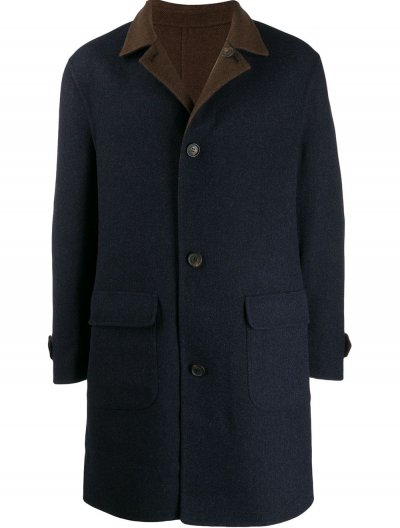BRUNELLO CUCINELLI DOUBLE FACED WOOL/CASHMERE COAT