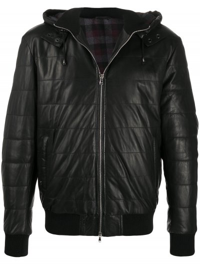 BARBA NAPOLI BOMBER LEATHER JACKET