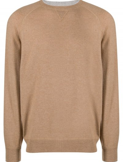 BRUNELLO CUCINELLI WOOL/CASHMERE/SILK SWEATER