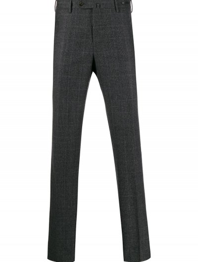PT01 SLIM WOOL CHECKED PANTS