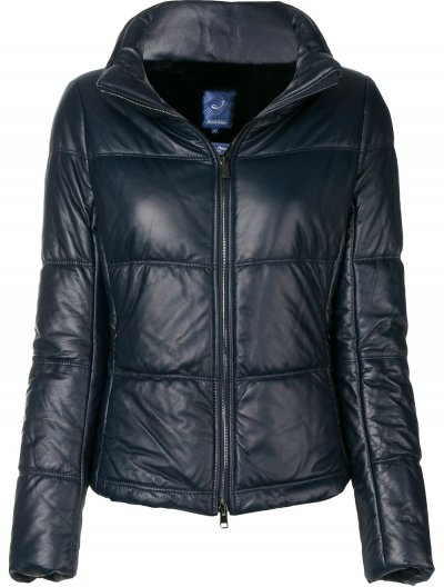 JACOB COHEN LEATHER JACKET FOR WOMEN