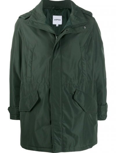 ASPESI WATERPROOF HOODED PARKA COAT