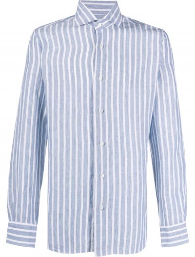 BARBA NAPOLI LINEN STRIPED SHIRT