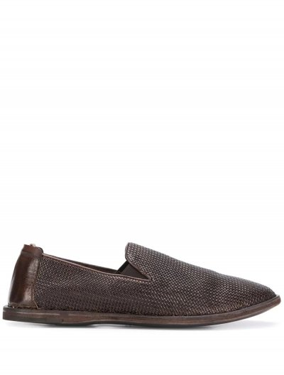 OFFICINE CREATIVE WOVEN EFFECT LOAFERS