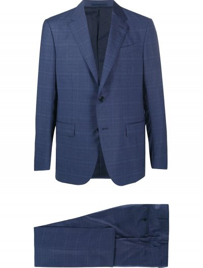 ERMENEGILDO ZEGNA CHECKED SUIT