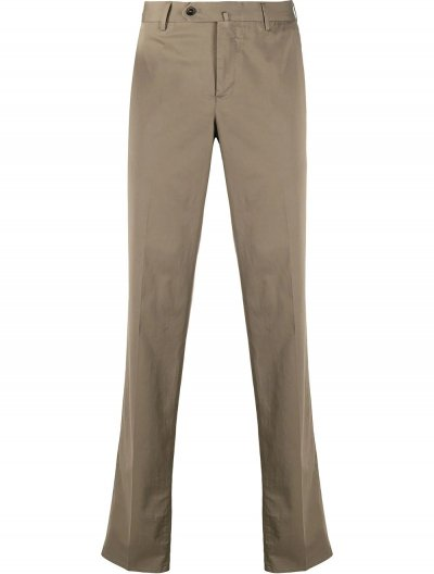 PT TORINO COTTON/SILK SLIM PANTS
