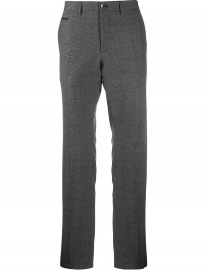 BOSS 'WILHELM5' CHECKED WOOL PANTS
