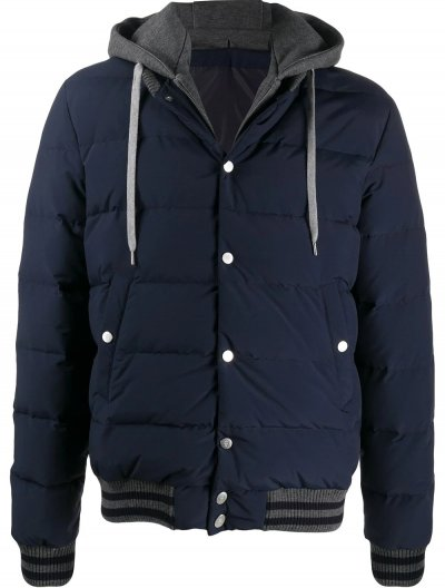 ELEVENTY JACKET WITH REMOVABLE HOOD