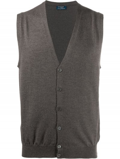 BARBA WOOL SWEATER VEST