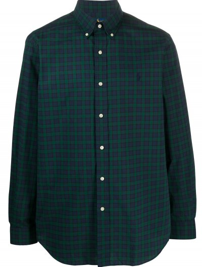 POLO RALPH LAUREN CHECKED STRETCH SHIRT