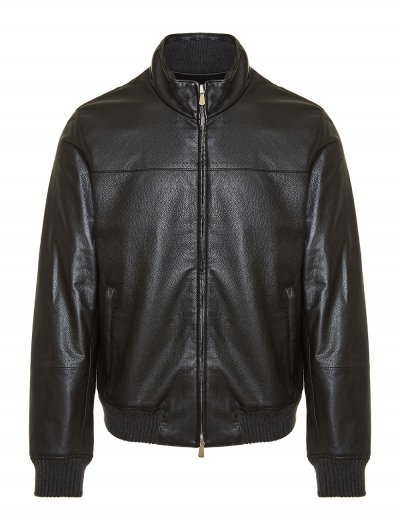 ENRICO MANDELLI LEATHER BOMBER JACKET