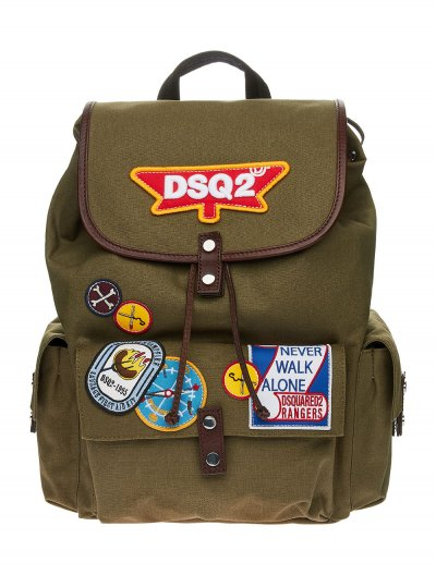 DSQUARED2 PATCH BACKPACK ΤΣΑΝΤΑ